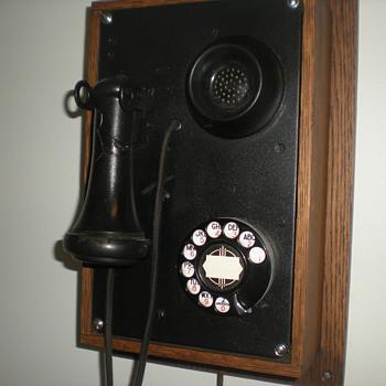 1930's Kellogg Art Deco Wall Phone - Telephones