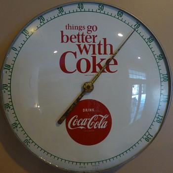 1950's-60's TGBWC Coca-Cola Thermometer - Coca-Cola