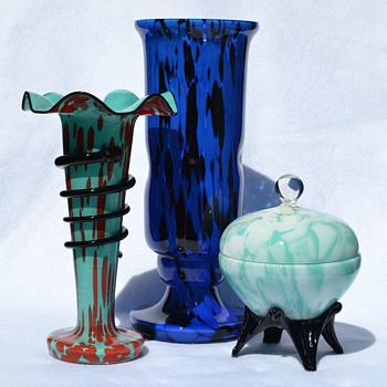 Blue Welz grouping - Art Glass