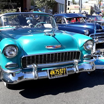 1955 Chevrolet Bel Airs at The Route 66 Cruisin Reunion 2019 - Classic Cars