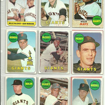 1968-69 Topps Baseball Cards, San Francisco Giants