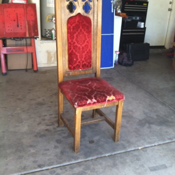 Gothic Cathedral Type Chair  - Furniture