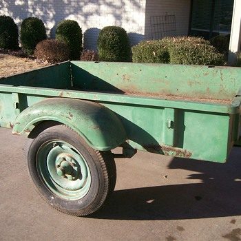 Vintage Sears and Roebuck Trailer - Tools and Hardware
