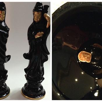 Fostoria Black Glass Figurines