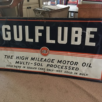 GULFLUBE sign.  Circa 1960 or before  - Signs