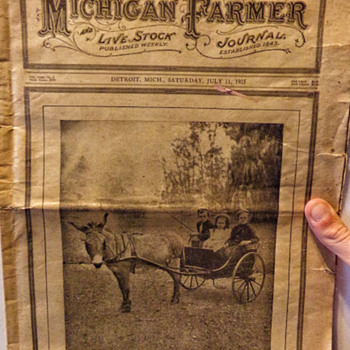 1925 Michigan Farmer - Paper