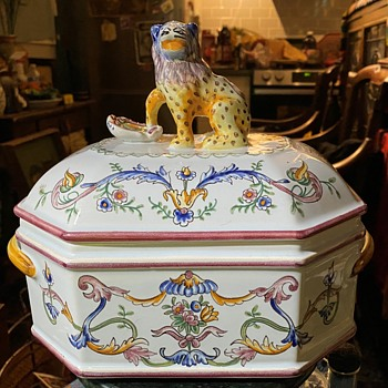 Large Tureen signed F.O.P.A. George Martel D'Hiereville E. - Pottery