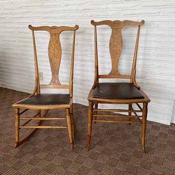 Birdseye Maple Side Chair & Sewing Rocker - Furniture