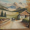 COUNTRY LANDSCAPE (oil on canvas)