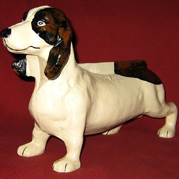 Cast Iron Basset Hound Boot Scraper - Animals