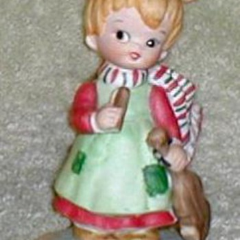 Lefton China Christmas Figurines - Christmas