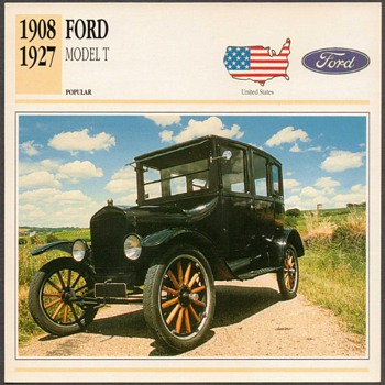 Vintage Car Card - Ford Model T - Classic Cars