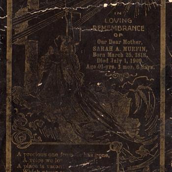 Antique 1909 Funeral Death Memorial Cabinet Card