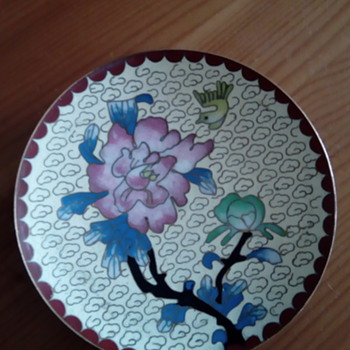 My cloisonné pin tray - Asian