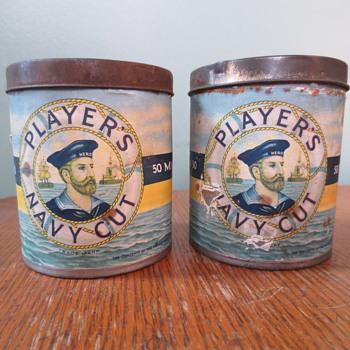 cool vitage tobacco tins - Advertising