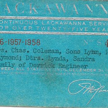 Lackawana SIlver Anniversary RXR Pass