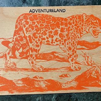 Adventureland Wooden Postcard - Postcards