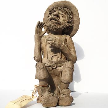Jilla - Wombat Handmade Oystrailian Character - Fine Art