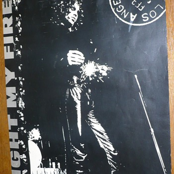 "The DOORS  ""Light My Fire"" Tour Poster - Posters and Prints"