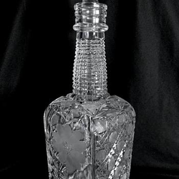 American Brilliant Cut Glass Whiskey Bottle