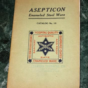 Asepticon - Enameled Steelware - Catalog No. 10
