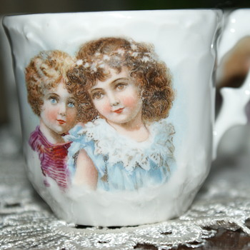 Small Porcelain Cups with Images of (Victorian?) Children - China and Dinnerware