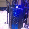 Wrought Iron Lamp of hearts