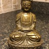 ANTIQUE BUDDHA. SWASTIKA, COPPER AND MYSTERY STAMP.