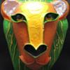 Papier-mâché Lion Mask - Signed GINA TUREX