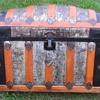 "34"" 1900+ Barrel Top Trunk with original Zinc Cladding Finish"