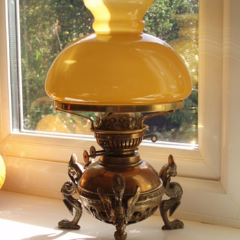Griffin Brass Oil Lamp - Lamps