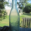 1907 Antique Old Aqua Blue Coca-Cola Soda Pop Bottle Logansport Indiana