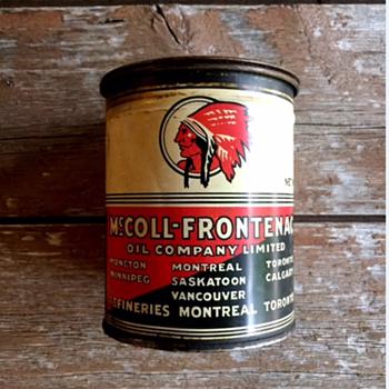 McColl Frontenac Oil Can (full) - Petroliana