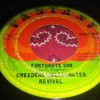 """It Doesn't Have To Be Veterans Day""...Creedence Clearwater Revival...On 45 RPM Vinyl  - Records"