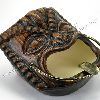 1960 Treasure Craft Tiki Ashtray - Tobacciana