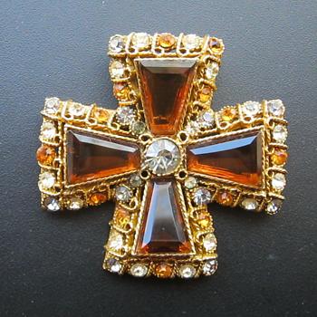 Coro Maltese Cross - Year Made? - Costume Jewelry