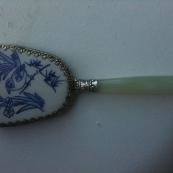 chinese small hand mirror - Asian