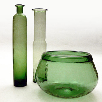 NEPTUNA set, Nanny still (Riihimäki Lasi, 1966) - Art Glass
