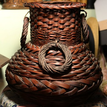 Large Antique Basket from Japan