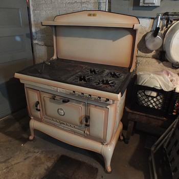 Dual fuel cast iron stove