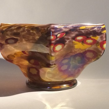 Kralik millefiori Hexagonal bowl - Art Glass