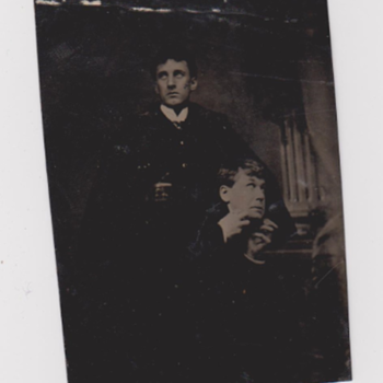 Tintype of Dr. Jekyll and Mr Hyde Actors - Photographs