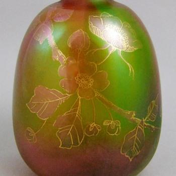 Harrach Decorated Rainbow Vase c.1890 - Art Glass