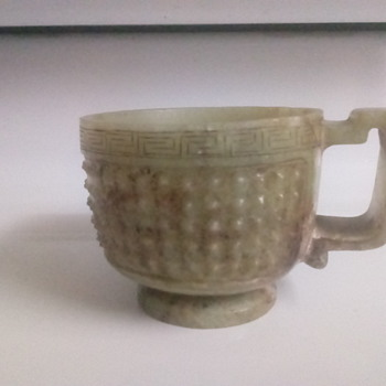 Chinese jade cup  - Asian