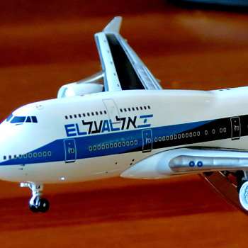 EL AL 4X-ELA model 1:400  - Advertising