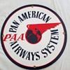 PAN AM American AIRWAYS SYSTEM enamel Sign