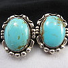 Sterling Silver Turquoise Earrings  Unknown Designer