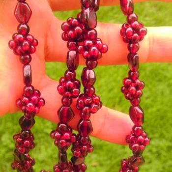 Garnet or glass? - Costume Jewelry