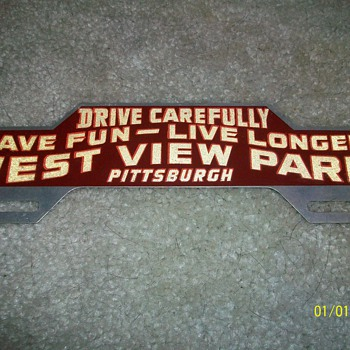 West View Park License Plate Topper