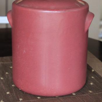 UNIQUE LARGE  MATTE GLAZED CROCK / BEAN POT - Pottery